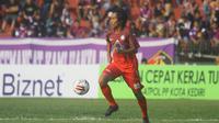 Agus Setia Wibowo menyelamatkan Martapura FC lewat gol tunggal di gawang Sulut United pada laga di Stadion Demang Lehman, Selasa (17.9.2019). (Bola.com/Gatot Susetyo)