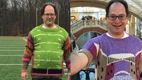 Bikin Takjub, Pria Ini Buat Sweater Persis Seperti Tempat yang Dikunjunginya (sumber: Brightside)
