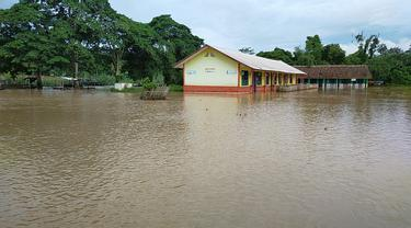 Banjir di Desa Mahanggin, Kecamatan Muaradua, Kabupaten Oku Selatan, Sumsel (Foto: Dok BNPB)