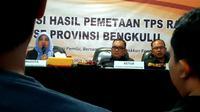 Bawaslu Provinsi Bengkulu merilis angka Indeks Kerawanan Pemilu 2019 dan memastikan tingkat kerawanan daerah ini diatas rata-rata nasional (Liputan6.com/Yuliardi Hardjo)