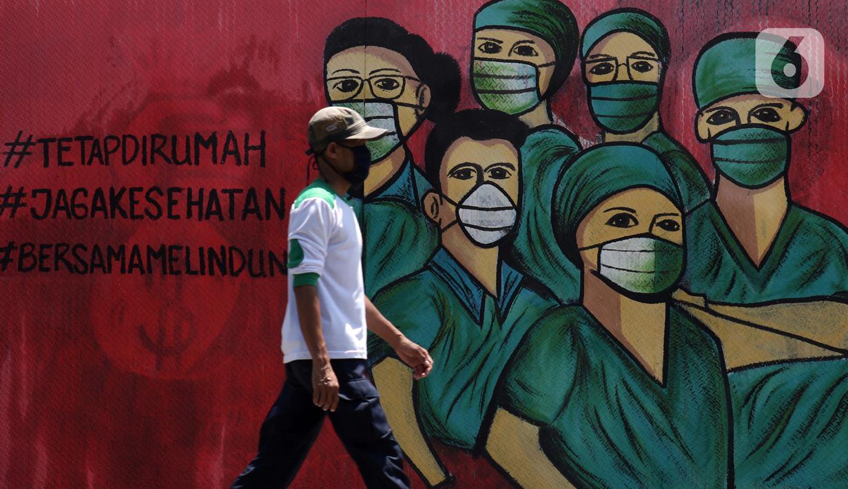 FOTO Dukungan Perjuangan Tim Medis Tertuang Dalam Mural