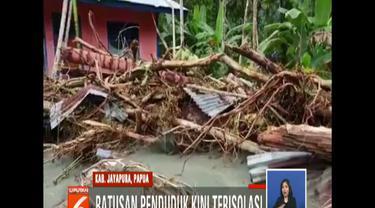 Meski dihantam banjir bandang, tak ada korban jiwa yang jatuh di distrik ini.