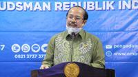 Ketua Ombudsman Amzulian Rifai dlam diskusi daring mengenai pengaduan warga terkait Covid-19. (Istimewa)