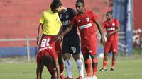 Uji coba Persik Kediri vs Persipura Jayapura. (Bola.com/Gatot Susetyo)