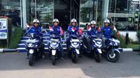 Lima bikers asal Vietnam sambangi Indonesia (Dian/Liputan6.com)