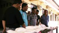 Barang bukti sabu seberat 20 kilogram yang disita aparat Polres Tanjung Balai, Sumatera Utara. (Liputan6.com/Reza Perdana)
