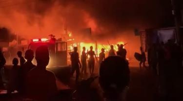kebakaran PAsar Kambang, Kamis (23/9/2021) malam. (Liputan6.com/ ist)