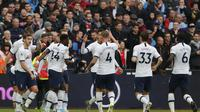 Tottenham Hotspur menang telak atas West Ham United. (AP Photo/Frank Augstein)