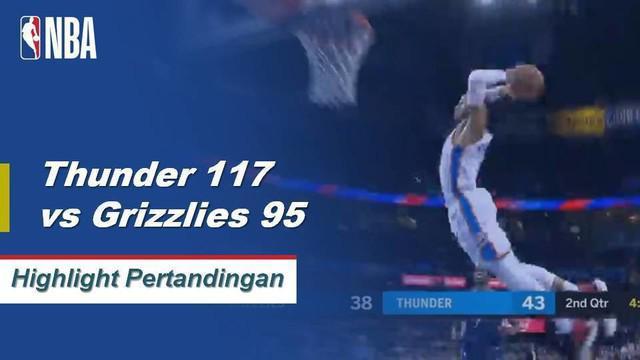 russell Westbrook membuat triple-double dengan 15 poin, 13 rebound, dan 15 assist untuk memimpin Oklahoma City atas Memphis.