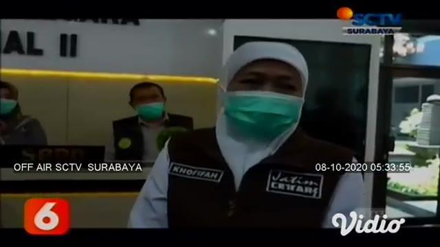 Gubernur Jawa Timur meninjau langsung pelaksanaan tes CPNS yang dilaksanakan di Kantor Regional II Badan Kepegawaian Negara Sidoarjo, Jawa Timur. Tes diikuti 4.777 peserta protokol kesehatan yang ketat.