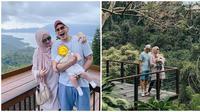 Momen liburan Rezky Adhitya dan Ciki ajak anak pertama kali. (Sumber: Instagram/@keeneatharrazka/@citraciki)