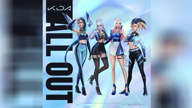K/DA rilis album EP berjudul All Out. (Doc: Riot Games)