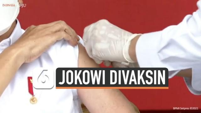 Presiden Joko Widodo menjadi orang pertama yang divaksin Covid-19 Sinovac di Indonesia. Apa yang dirasakan Jokowi setelah ikuti vaksinasi?