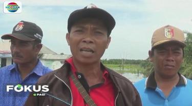 Aparat desa mengimbau warga untuk sementara kembali mengungsi mengingat intensitas curah hujan masih tinggi.