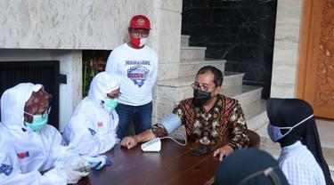 Satgas Detektor datangi rumah pribadi Wali Kota Makassar, Danny Pomanto (Liputan6.com/Fauzan)