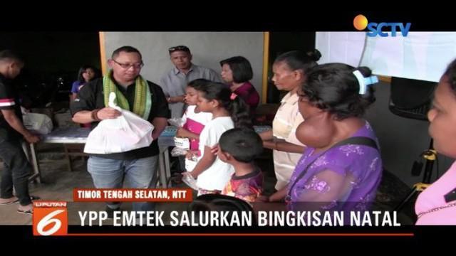 YPP Emtek Grup dan Persekutuan Doa New Generation salurkan bingkisan Natal untuk ratusan warga NTT.