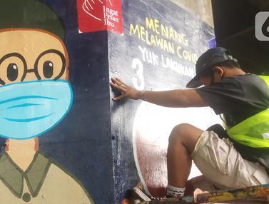 Mural Pencegahan COVID-19 Hiasi Kolong Jalan Tol Dalam Kota