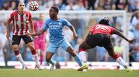 Pertandingan antara Manchester City versus Southampton pada laga lanjutan Liga Inggris 2021/2022. OLI SCARFF / AFP)