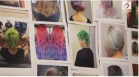 Warna warni yang memberi kepercayaan diri. Kini mencat rambut telah menjadi tren sendiri di masyarakat.(Liputan6.com)