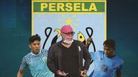Persela Lamongan - Iwan Setiawan, Ahmad Bustomi, Mochammad Zaenuri (Bola.com/Adreanus Titus)