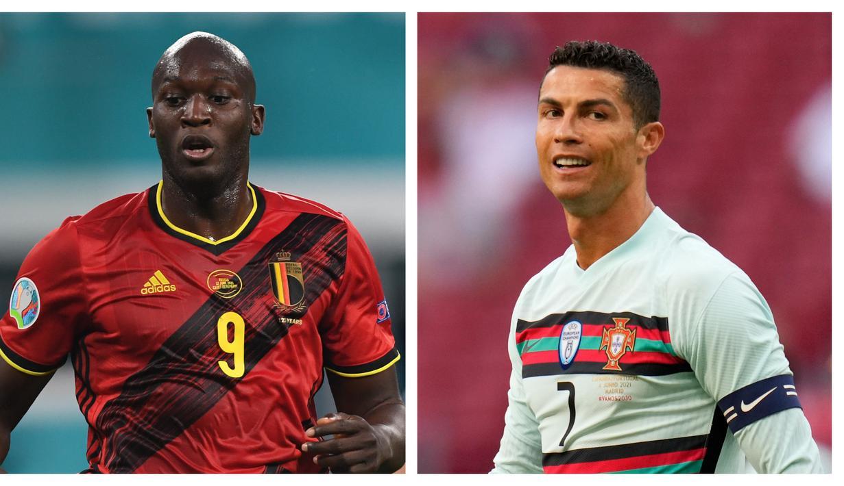 Ajang Euro 2020 (Euro 2021) yang sedang berlangsung menjadi pentas para striker untuk menambah koleksi gol mereka. Tak terkecuali 6 striker timnas berikut yang menjadikan Piala Eropa kali ini untuk mempertajam rekor gol yang telah mereka ciptakan. (Foto: Kolase AFP)