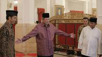 Jokowi, SBY, dan Prabowo saat buka bersama di Istana Negara pada 20 Juli 2014 atau dua hari sebelum pengumuman hasil Pilpres oleh KPU (Presidenri.go.id)