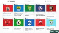 Instagram Klub Indonesia (Persib Bandung, Persija Jakarta, Persebaya Surabaya, Arema FC, Bali United, PSM Makassar, PSS Sleman, PSIS Semarang, Madura United, Persela Lamongan) (Bola.com/Adreanus Titus)
