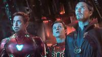 Iron Man, Spider-Man, dan Doctor Strange dalam Avengers: Infinity War. (Marvel Studios)
