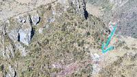 Lokasi jatuhnya Heli Heli MI 17 Penerbad Nomor Reg HA 5138 yang hilang sejak 28 Juni 2019 lalu. (Liputan6.com/ Ist/ Pendam XVII Cenderawasih)