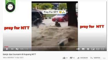 Gambar Tangkapan Layar Kabar NTT Diterjang Tsunami (sumber: YouTube)