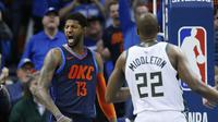 NBA: Selebrasi Paul George (AP)