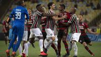 Flamengo bertemu Fluminense pada derby Rio de Janeiro di Taca Guanabara 2019. (AFP/Mauro Pimentel)