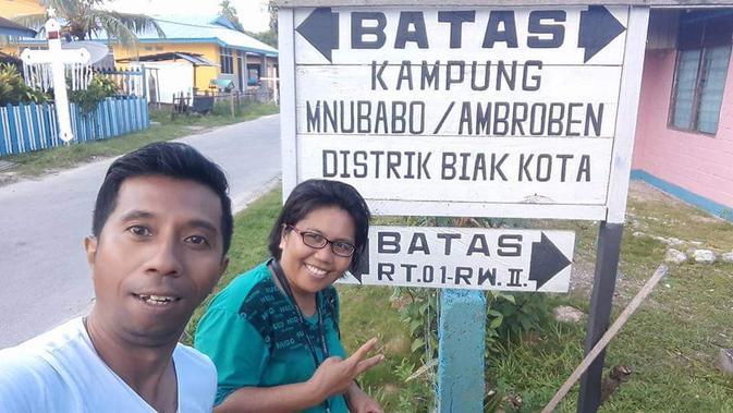Kampung Ambroben di Kabupaten Biak Numfor, Provinsi Papua, menjadi salah satu daerah penghasil ramuan Daun Bungkus paling manjur. (Liputan6.com/ Katharina Lita)