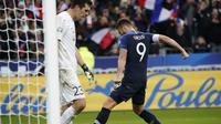 Prancis menang 2-1 atas Moldova. (AP Photo/Francois Mori)