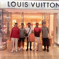 Jonathan Christie, Anthony Sinisuka Ginting, Louis Vuitton