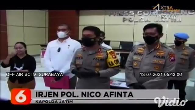 Polda Jawa Timur berhasil meringkus dua pelaku yang menimbun ratusan tabung oksigen, yakni AS dan TW warga Sidoarjo. Dari tangan kedua tersangka, polisi berhasil menyita 129 tabung oksigen.