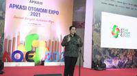 Menteri BUMN Erick Thohir menutup acara Apkasi Otonomi Expo 2021 di Jakarta. (Ist)