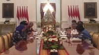 Jokowi panggil Anies Baswedan, Wahidin Halim, dan Ridwan Kamil bahas banjir awal 2020. (Lizsa Egeham/Liputan6.com)