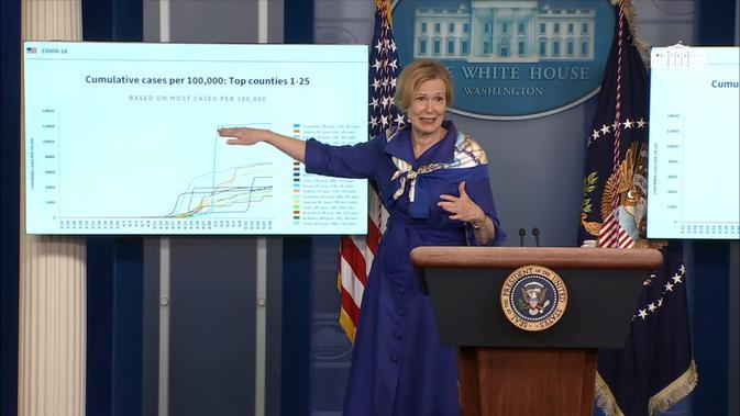 Dr. Deborah Birx, Koordinator Respons Virus Corona Gedung Putih. Dok: Gedung Putih