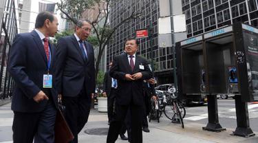 Pimpin Delegasi Indonesia, Wapres JK Berjalan Kaki Menuju Markas PBB