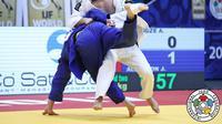 Atlet judo asal Portugal, Anri Egutidze saat bertanding dalam sebuah kejuaraan (International Judo Federation)