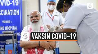 VIDEO: Perdana Menteri India Terima Vaksin Covid-19 Pertama