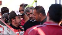 Mantan pembalap Formula 1, Fernando Alonso, tampil di Reli Dakar 2020 (FRANCK FIFE / AFP)