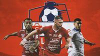 Liga 1 - Brwa Nouri, Marko Simic, Nick Kuipers (Bola.com/Adreanus Titus)
