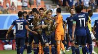 Kemenangan 2-1 yang diraih Jepang atas Kolombia menghadirkan deretan fakta-fakta menarik. (AFP/Juan Barreto)