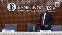 Gubernur Bank Indonesia Perry Warjiyo bersiap menyampaikan hasil Rapat Dewan Gubernur (RGD) Bank Indonesia di Jakarta, Kamis (19/12/2019). RDG tersebut, BI memutuskan untuk tetap mempertahankan suku bunga acuan 7 Days Reverse Repo Rate (7DRRR) sebesar 5 persen. (Liputan6.com/Angga Yuniar)