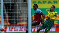 Penyerang West Ham United, Michail Antonio, menyarangkan empat gol ke gawang Norwich City. (Dok. Twitter/Premier League)