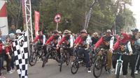 4.000 pesepeda mulai pejabat hingga warga ramaikan Gowes Nusantara di Pangkal Pinang, Bangka Belitung (dok: Kemenpora)