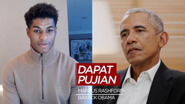 Berita Video, Barack Obama berikan kepada Marcus Rashford dalam zoom meeting pada Jumat (28/5/2021)