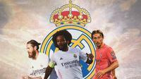 Real Madrid - Sergio Ramos, Marcelo, Luka Modric (Bola.com/Adreanus Titus)